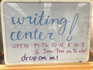 SPU Writing Center sign