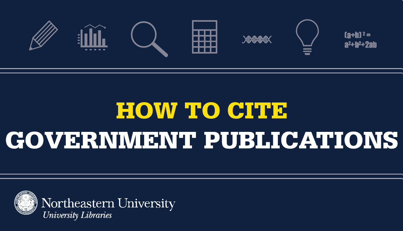 How to cite government publications