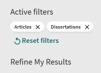 active filter options
