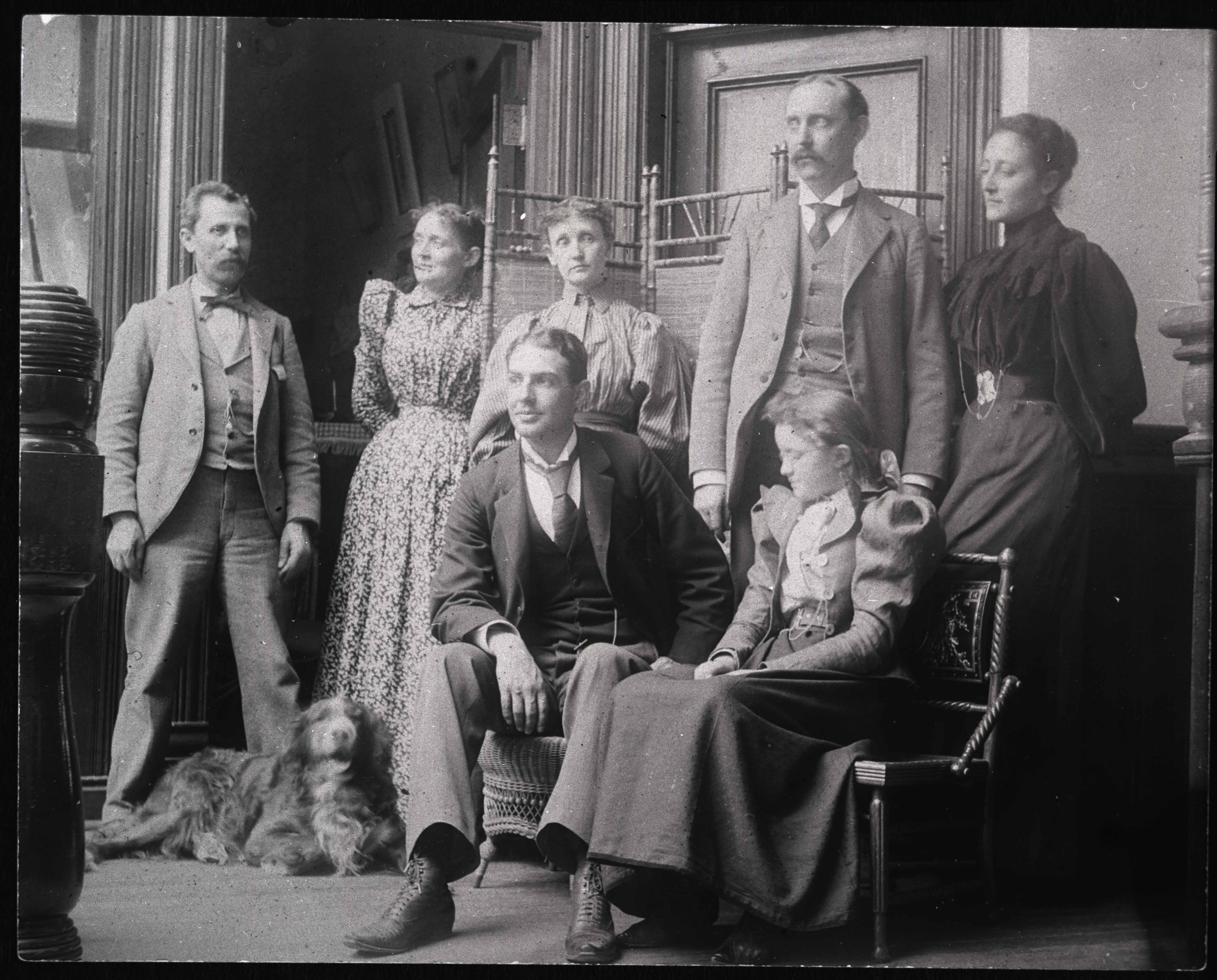 Group photo of four women and three men