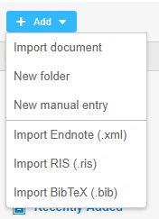 add files mendeley online screenshot