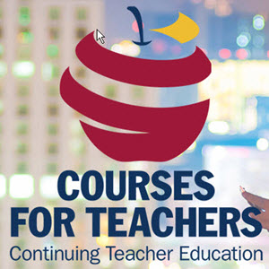 logo for Queen's Courses for Teachers