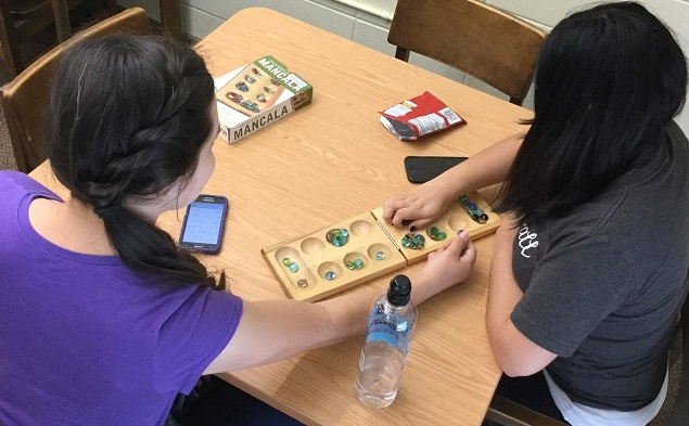 Students playing game