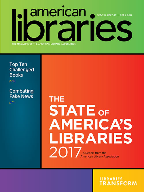 Report cover: 2017 State of America's Libraries