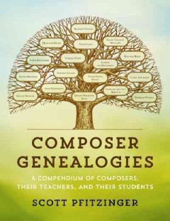Book Jacket cover for Composer Geneologies: A Compendium of Composers, Their Teachers, and Their Students