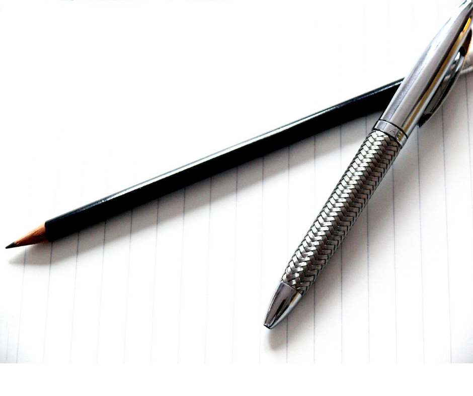 image of a pen and pencil