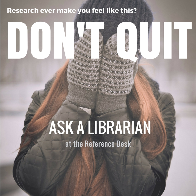 Research ever make you feel like you're stuck in a snowstorm? Don't quit. Ask a librarian.