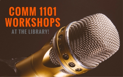 COMM 1101 Workshops at the Library: photo of microphone