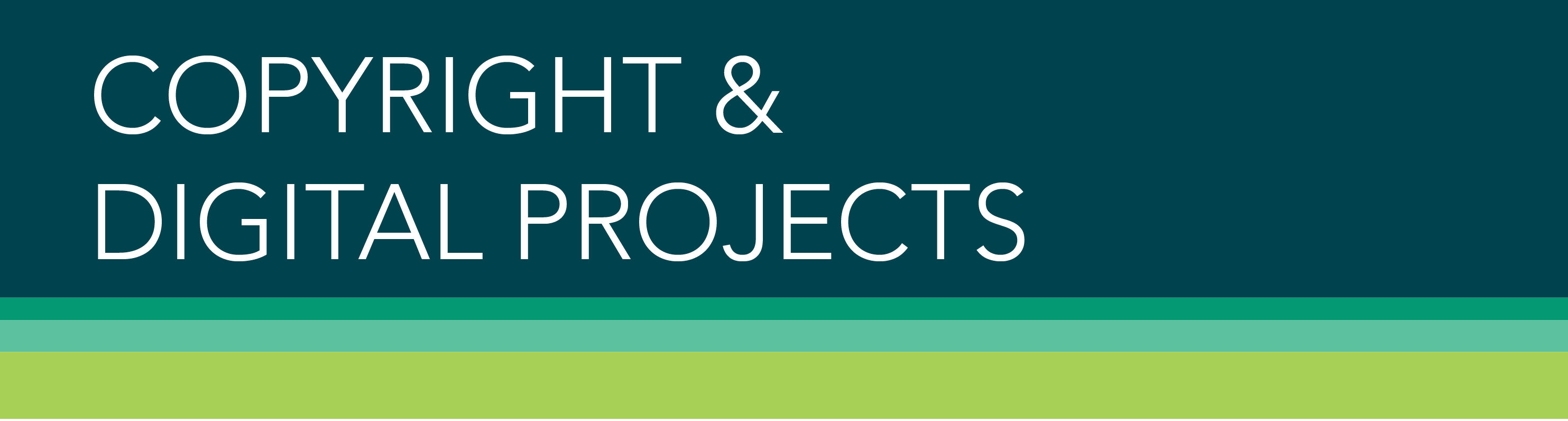 Copyright & Digital Projects Banner