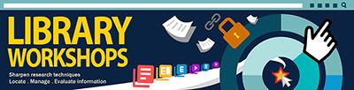 library workshop banner