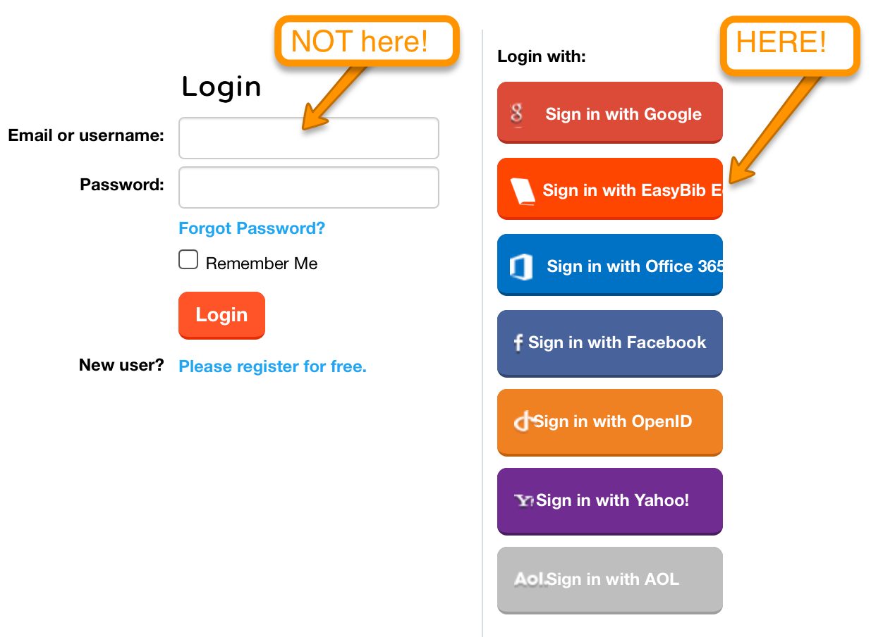EasyBib EDU Log In