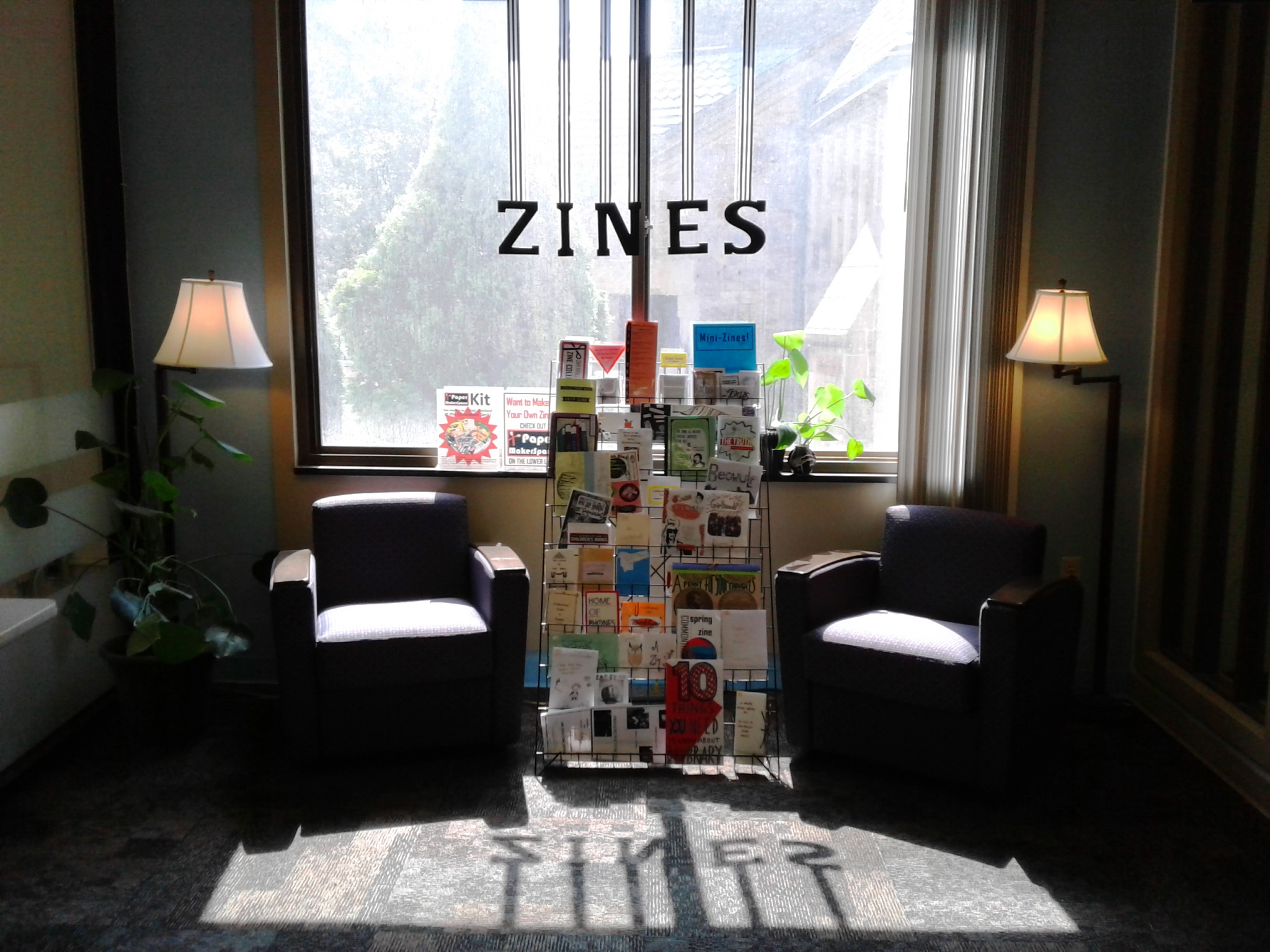 Zine Collection area