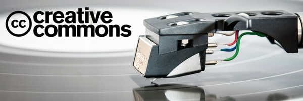 new generation record player with creative commons logo