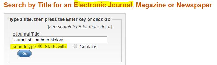 electronic journals search example