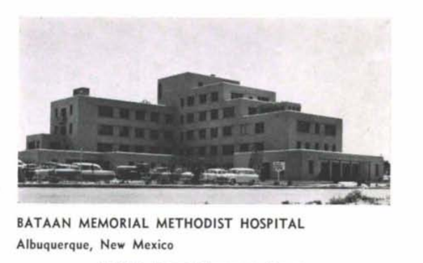 Historical Photo of Bataan Memorial Methodist Hospital, Albuquerque, New Mexico