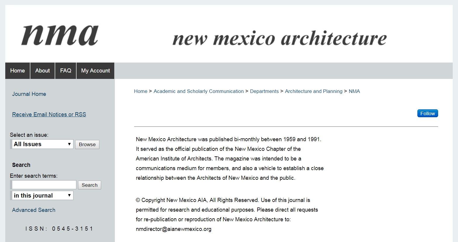 New Mexico Architecture site on UNM's Digital Repository