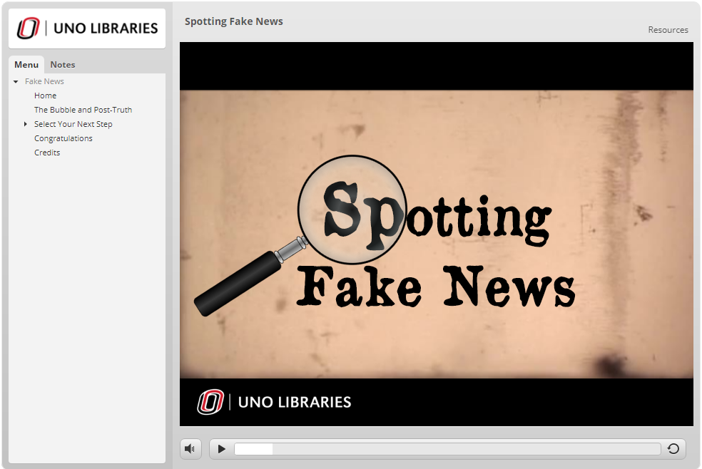 Spotting Fake News Title Slide
