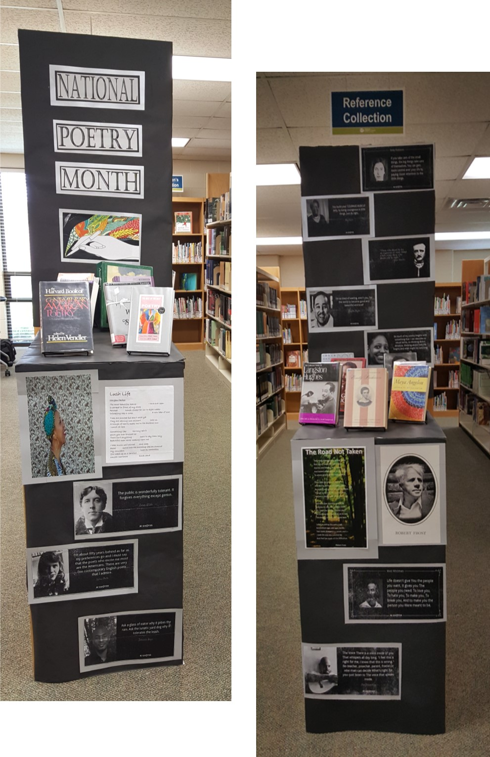 National Poetry Month Display, April 2017