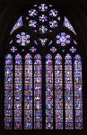 Photo of stained glass windows in Lincoln Cathedral, East Window