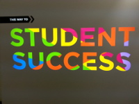 "Graphic of ""This way to STUDENT SUCCESS"""