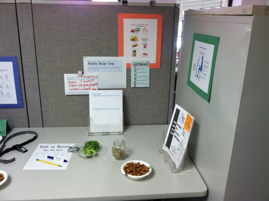 Health Corner table, right side