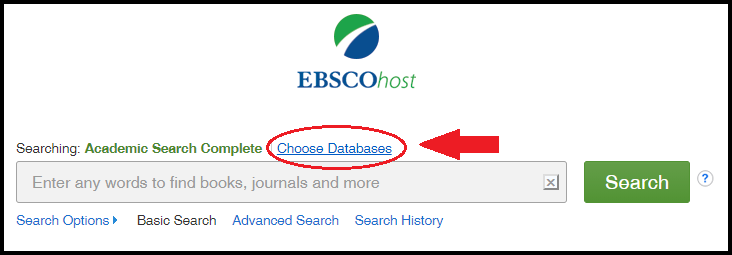 Choose EBSCO databases