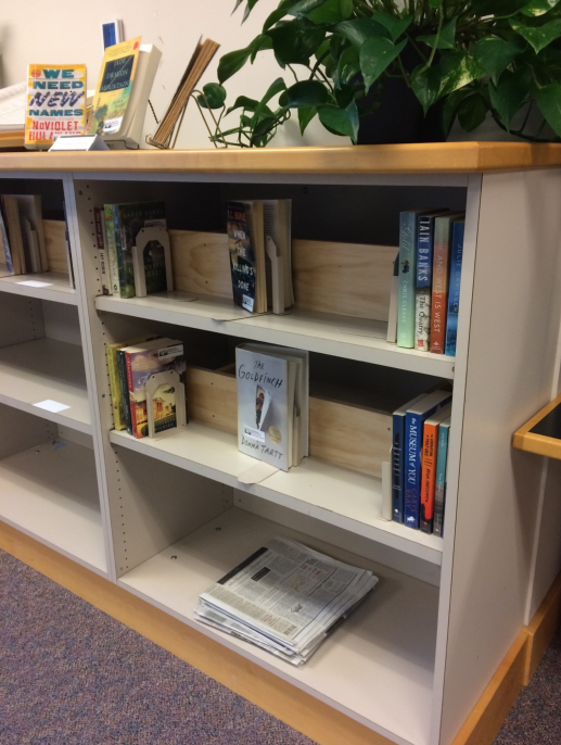 Photo of books displayed on shelf