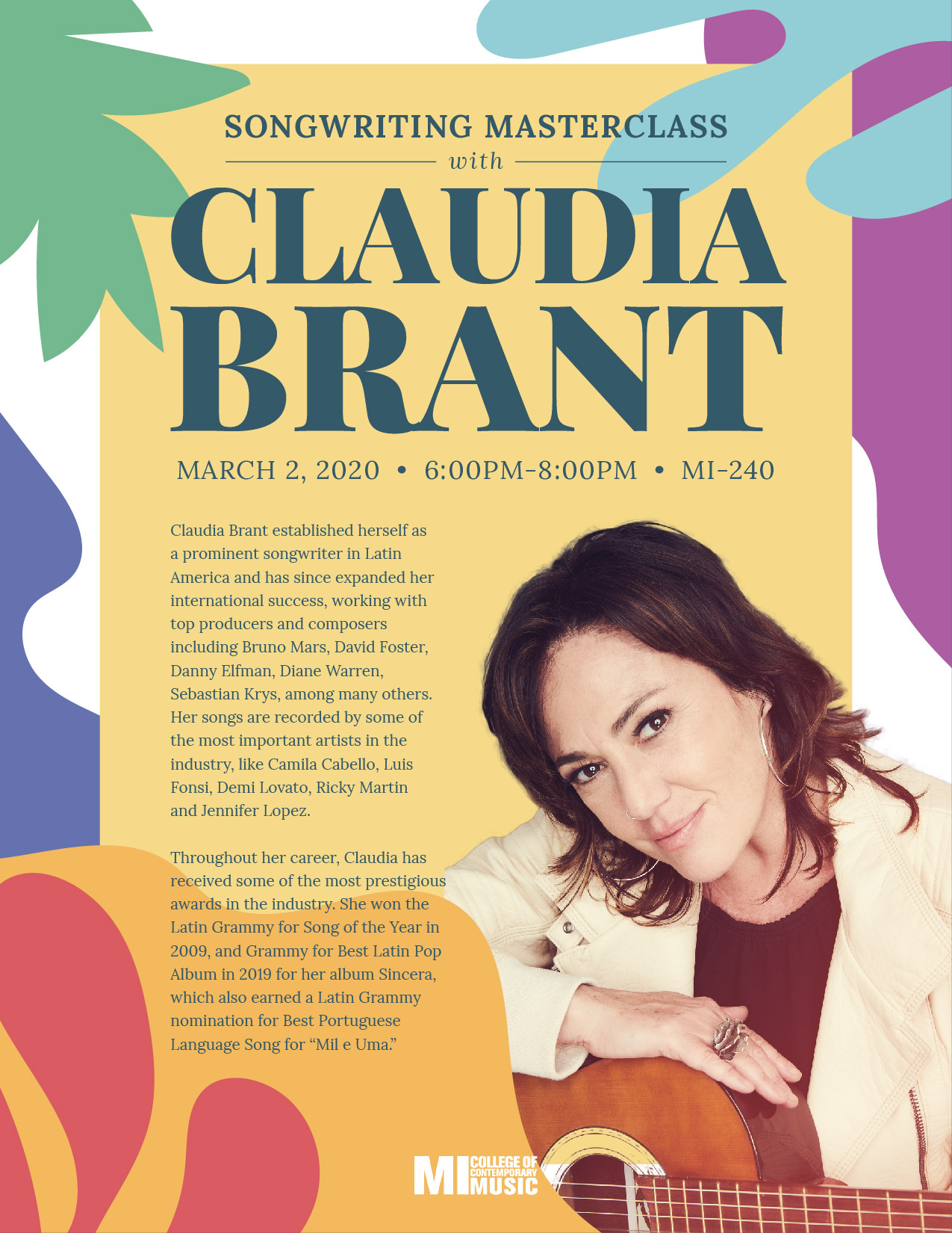 Songwriting Masterclass with Claudia Brant