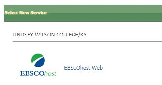 EBSCOhost Web icon