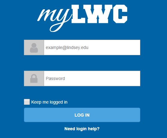 myLWC login screen