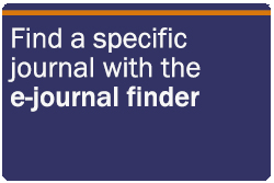 Find a specific journal with the e-journal finder