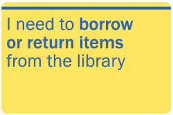 I need to borrow or return items from the library