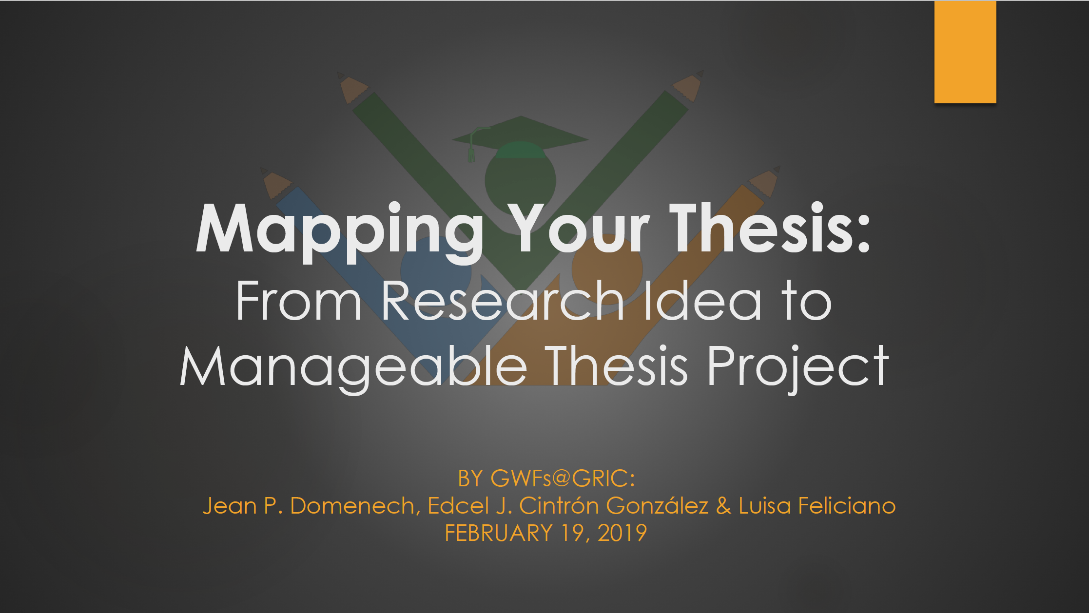 Mapping thesis presentation
