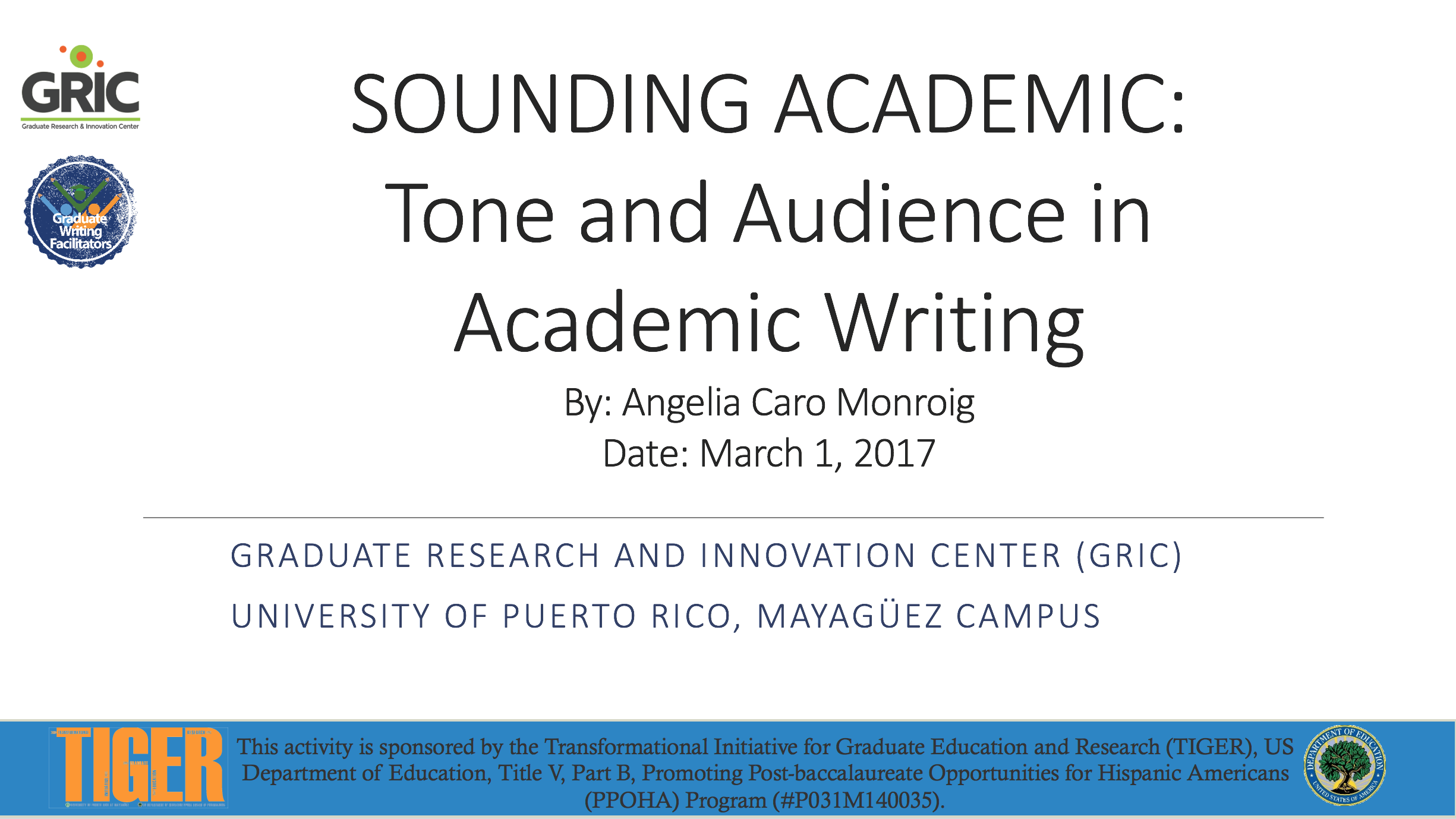 presentacion sounding academic