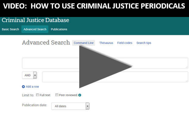 Video: How to use Criminal Justice Periodicals