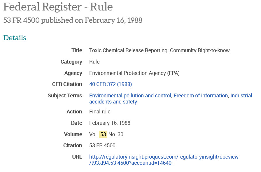 federal register cite with no docket or RIN number