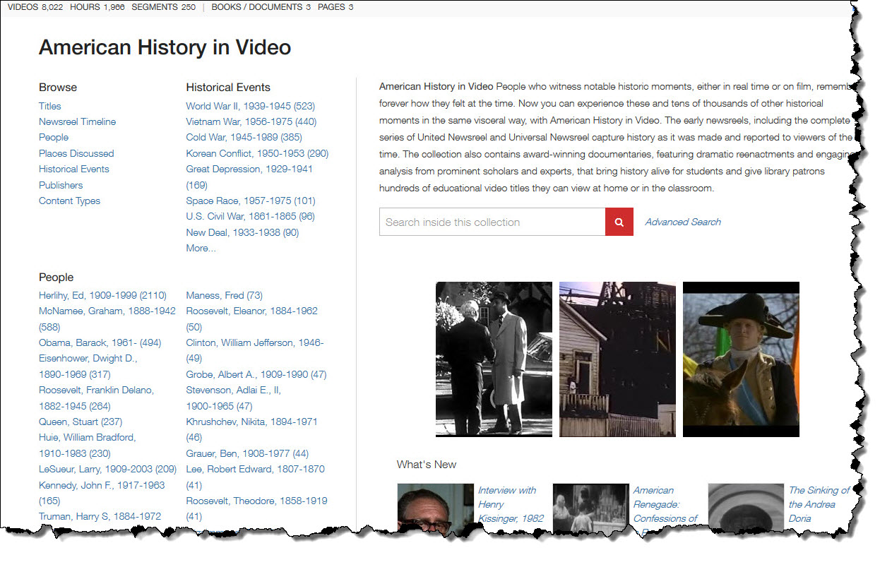 American History in Video Homepage