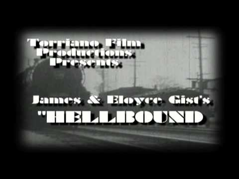Still image from title sequence of Hellbound Train