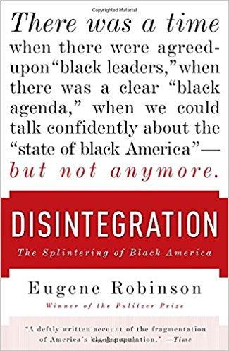 Book cover of Disintegration, with link to ebook in library catalog