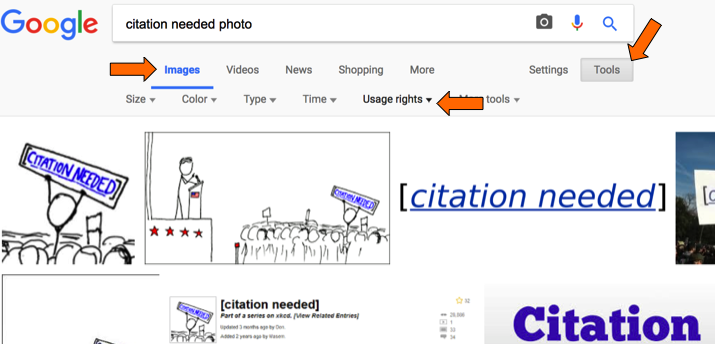 Screen shot of searching google images