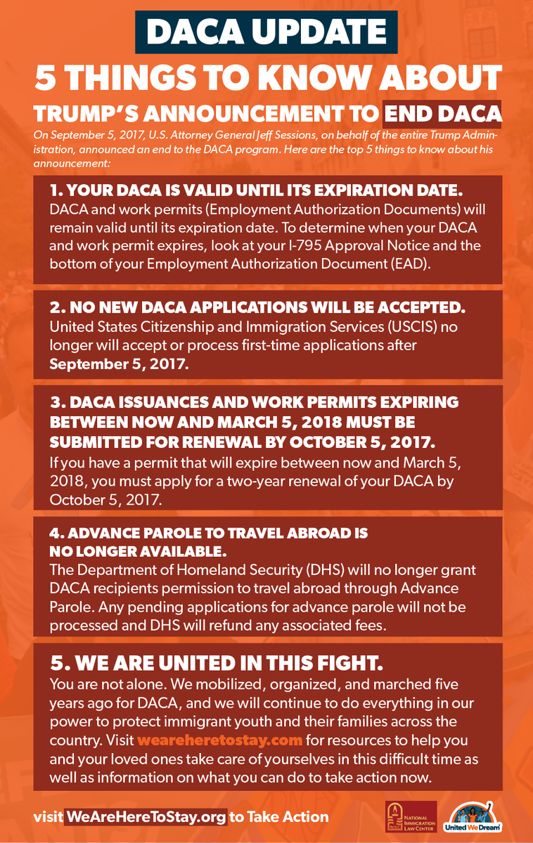 5 Things to Know About Trump's Announcement to End DACA