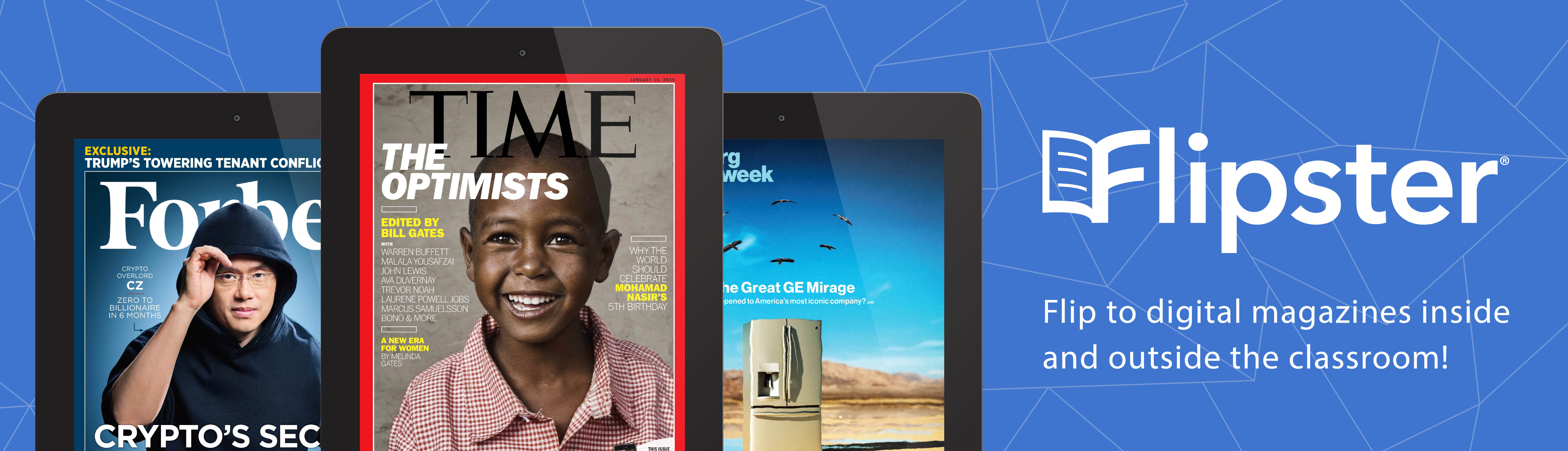 Flip to digital magazines inside and outside the classroom!
