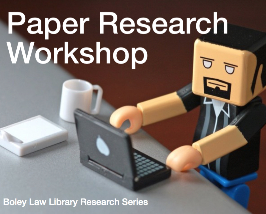 Cover image – Webcast video of Paper Research Workshop, presented October 26, 2017