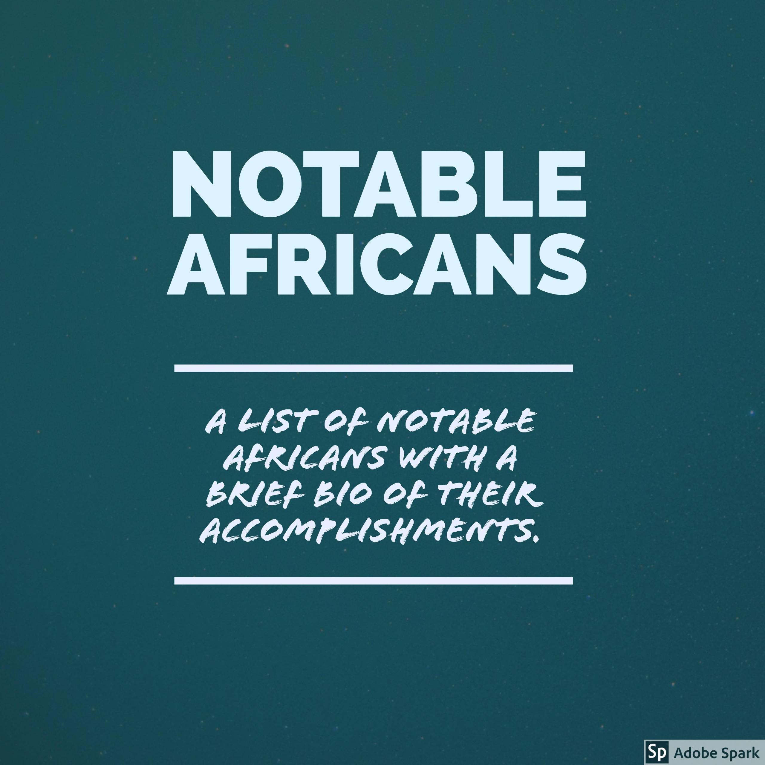 Notable Africans