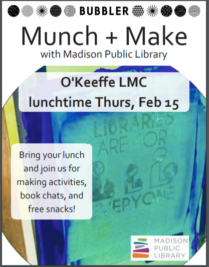 February 15 Munch and Make