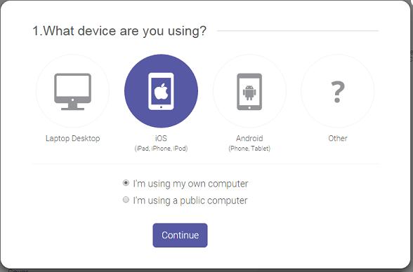 Step 1 Choose Device