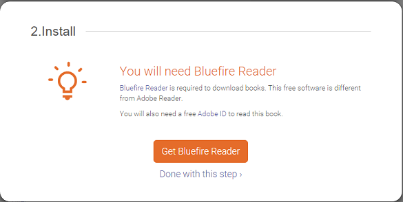 Step 2 Download Bluefire Reader