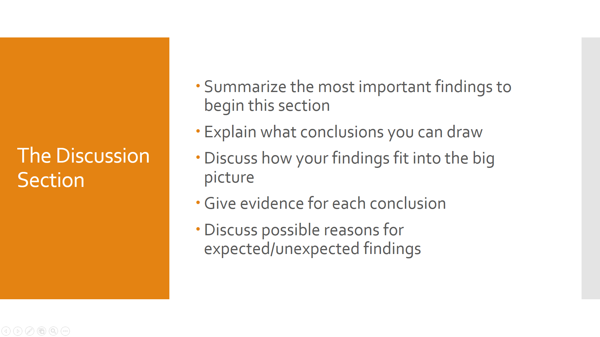 Image of tips for writing a discussion section