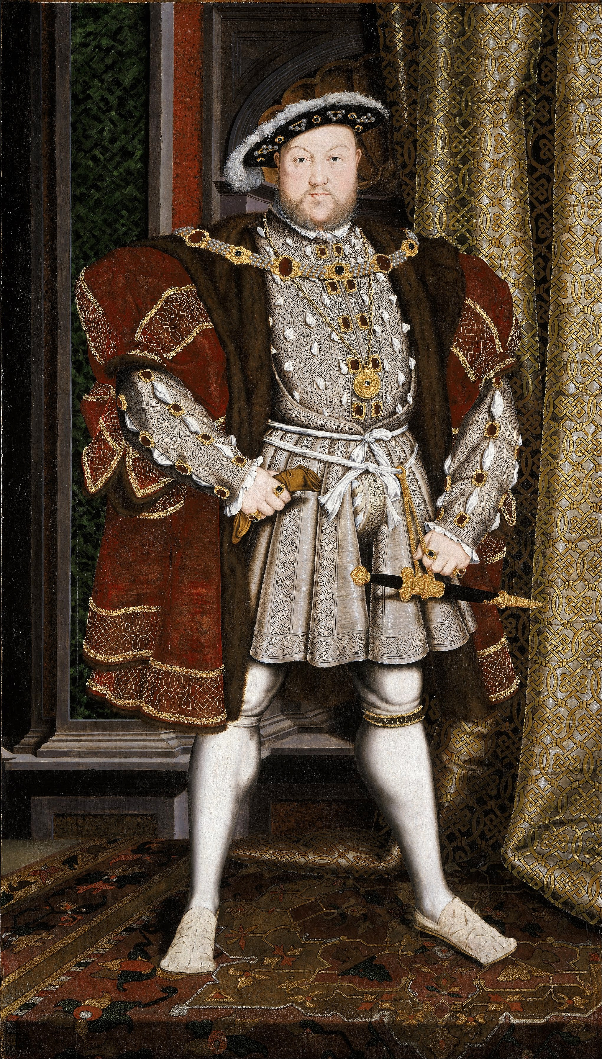 Portrait of Henry VIII of England by Hans Holbein the Younger