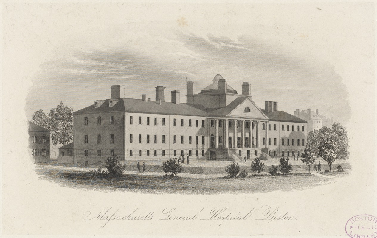 An engraving of MGH circa 1827.